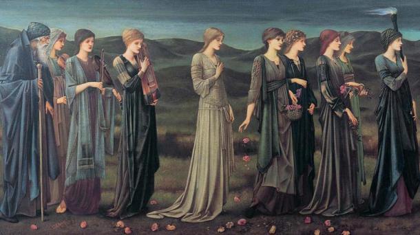 La boda de Psique (Pre-Raphaelite, 1895) fotografía de Edward Burne-Jones