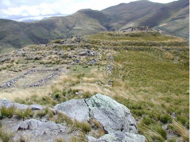 El lugar de la fortaleza de Quitoloma, una de las 20 construidas por los incas en los cerros de Pambamarca.