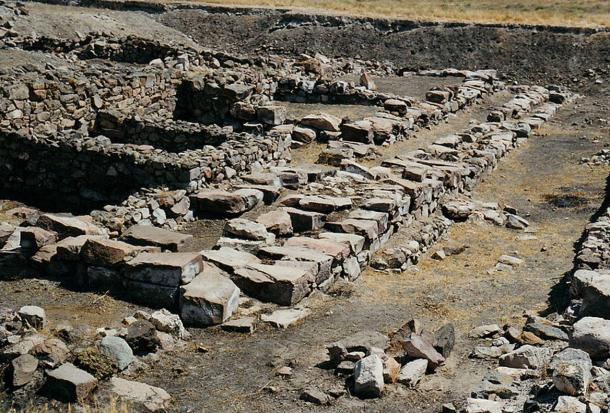 Ruinas del Palacio Hitita en Kültepe, Turquía