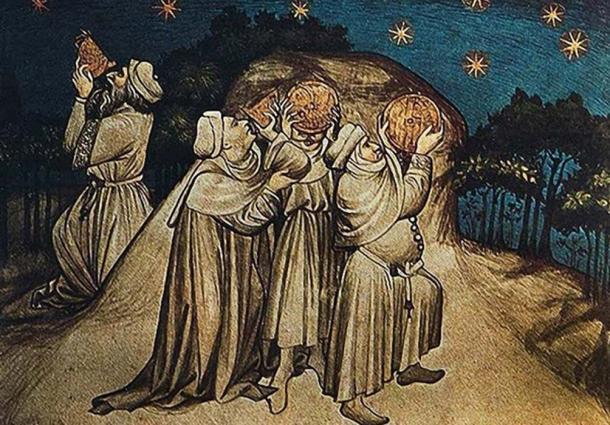 Stargazers medievales. La gente ha estado fascinada por las estrellas y su posible influencia sobre nuestras vidas, mucho antes y después del tiempo de la astrología babilónica (Fuente: Hawkwood / CC BY NC ND 2.0)