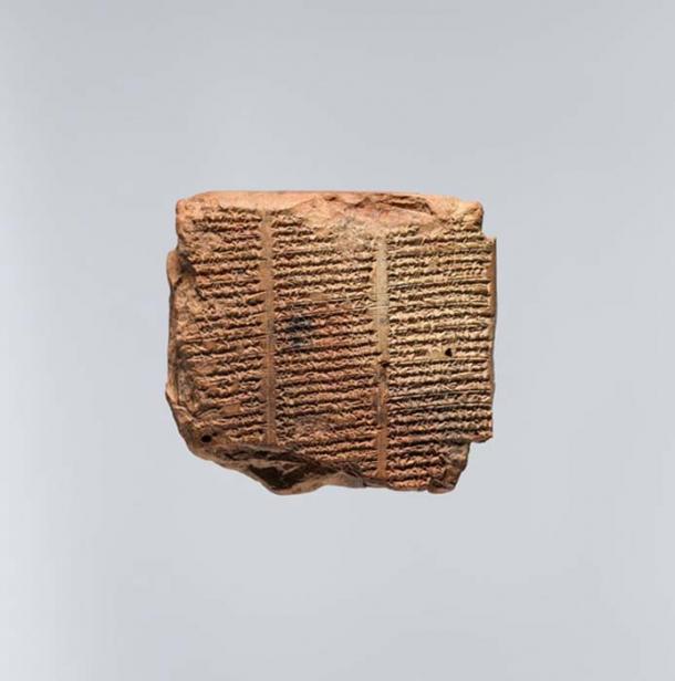 Tablilla cuneiforme con una lista de piedras mágicas. (Museo Metropolitano de Arte)