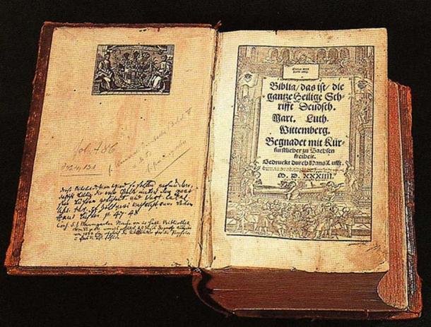 Traducción de Lutero de la Biblia, desde 1534. (Torsten Schleese / Dominio público)