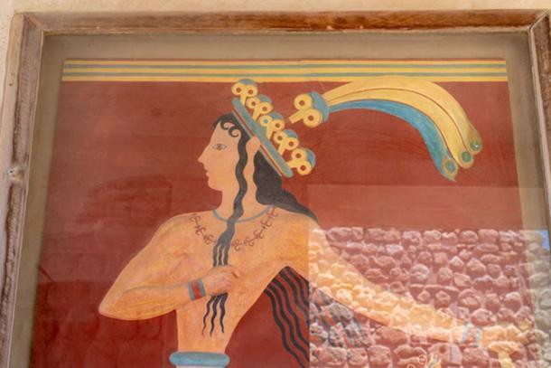 """Pintura restaurada """"Príncipe de los lirios"""". Crédito: Ioannis Syrigos"""