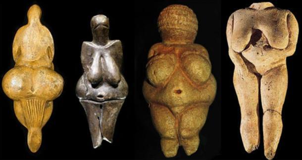Colección de estatuillas de Venus halladas por toda Europa