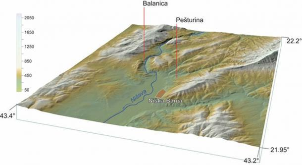 Un mapa que muestra la ubicación de Pešturina. (Miloš Radonjić / Autor proporcionado)