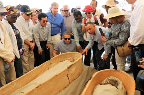 Recientemente se han desenterrado varios sarcófagos en Dahshur. (Ministerio de Antigüedades)