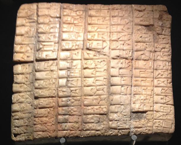 Una tableta de la antigua ciudad de Ebla. (Codas / CC BY-SA 4.0)