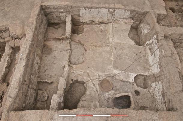 Toma aérea de una de las casas neolíticas en la antigua ciudad de Çatalhöyük. (Proyecto de investigación Çatalhöyük / CC BY-NC-SA 2.0)