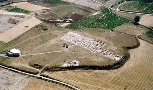 Vista aérea de La Hoya, lugar de la masacre prehistórica española. (A. Llanos / Antiquity Publications Ltd)