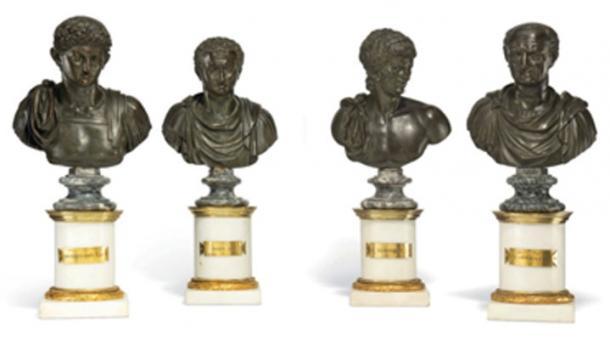 Junto con la estatua del rey Tut, se están subastando cabezas de mármol romano. (Christies)