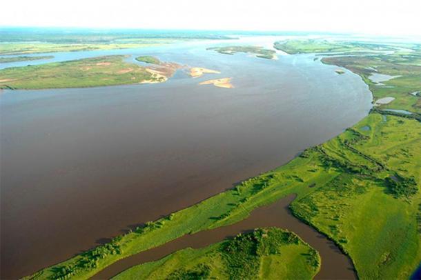 Río Amur (Imagen: Administración de la región de Khabarovsk, @sergeyiss / The Siberian Times)