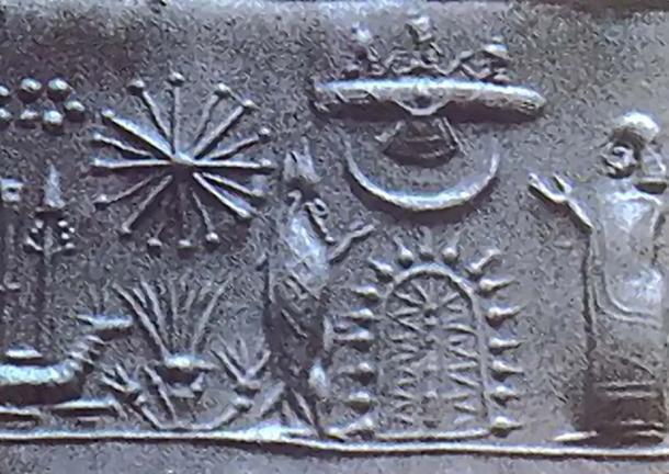 Los defensores de los antiguos astronautas sugieren que los extraterrestres llegaron a la Tierra hace mucho tiempo, citando artefactos como este antiguo sello cilíndrico mesopotámico. (Dyolf77 / Dominio público)