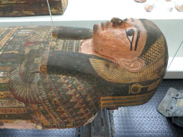El antiguo entierro de la momia egipcia de Irlanda Takabuti. (Museo del Ulster, Belfast)