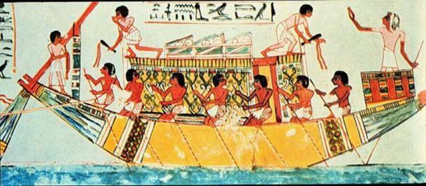 Un barco egipcio antiguo. (Dominio público)