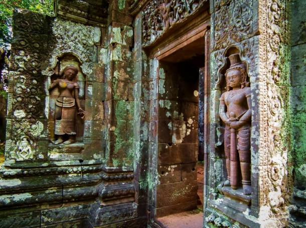Tallas de esculturas antiguas en Vat Phou, Laos. (Jack / Adobe stock)
