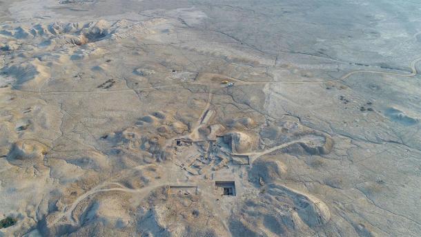 En el sitio del antiguo Girsu, en el sur de Irak, hay un templo construido para el dios de la guerra Ningirsu. (Museo Británico / ASOR)