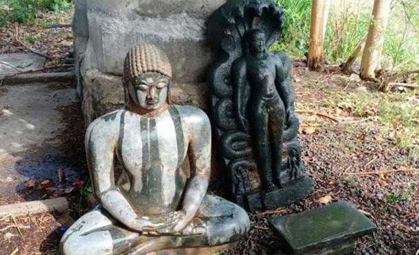 Se han excavado antiguas estatuas jainistas en la zona. (Telangana hoy)