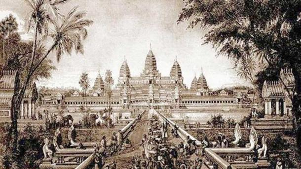 Ilustración de Angkor Wat en 1880 por Louis Delaporte. (Maksim / Dominio Público)