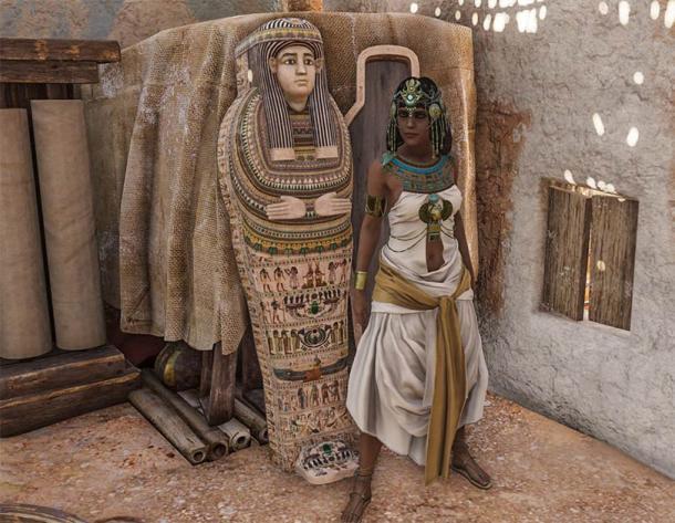 Es posible que los animadores de Ubisoft estén más cerca de la verdad con esta representación de Cleopatra de Assassin's Creed Origins (CC BY-NC-SA 2.0)