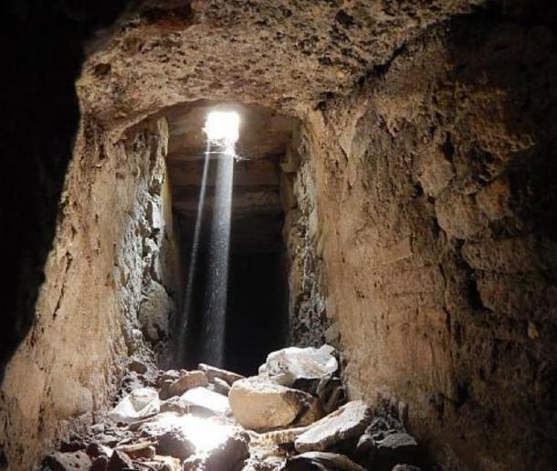 Otro disparo de un túnel dentro de los desagües de Pompeya. (Parque Arqueológico de Pompeya)