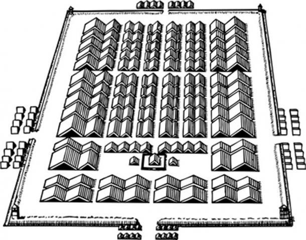 Disposición del antiguo campamento de marcha romano. (barbulat / Adobe)