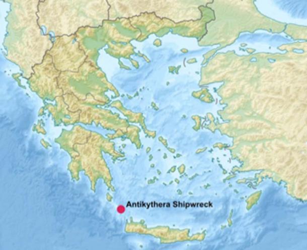 El naufragio Antikythera se encuentra frente a la isla griega de Antikythera en el borde del mar Egeo, al noroeste de Creta. (Uwe Dedering / CC BY-SA 3.0)