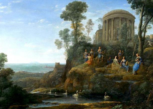 Apolo y las musas en el monte Helicón. (Hohum / Dominio público)