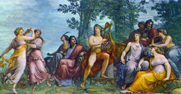 Apolo y las Musas en Parnaso. (Kameraad Pjotr / Dominio público)