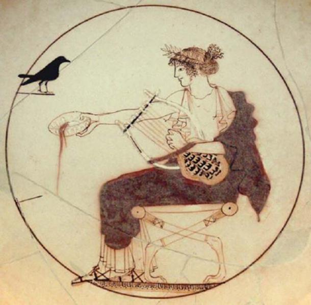 Apolo tocando la lira. Wikimedia Commons