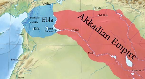Fronteras aproximadas del segundo reino eblaita. (Attar-Aram Syria / CC BY-SA 4.0)