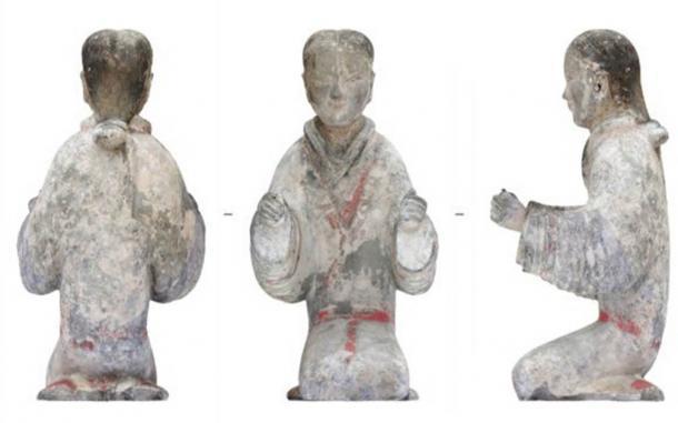 Los arqueólogos han encontrado acumulaciones de objetos que incluyen figuras de cerámica y ropa de jade en un emocionante descubrimiento de tumbas del período Han. (Instituto Xi'an de Reliquias Culturales y Arqueología / People's Daily China)
