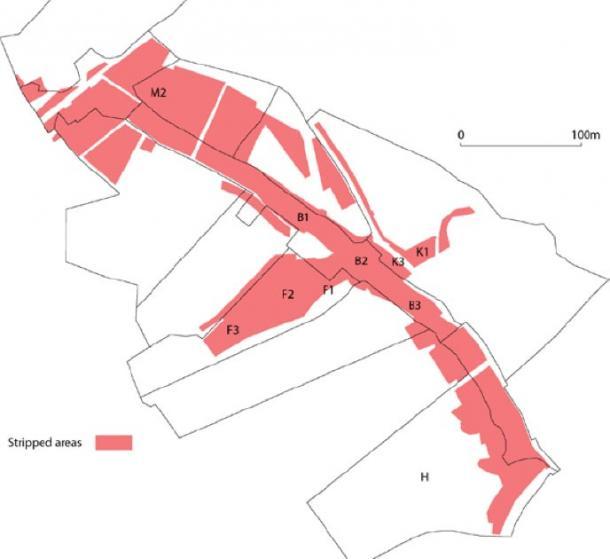 Se mapearon áreas de Holy Island y se registraron y describieron las características. (Fideicomiso Arqueológico de Gwynedd)