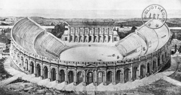 Arènes de Lutèce como lo fue durante la ocupación del Imperio Romano