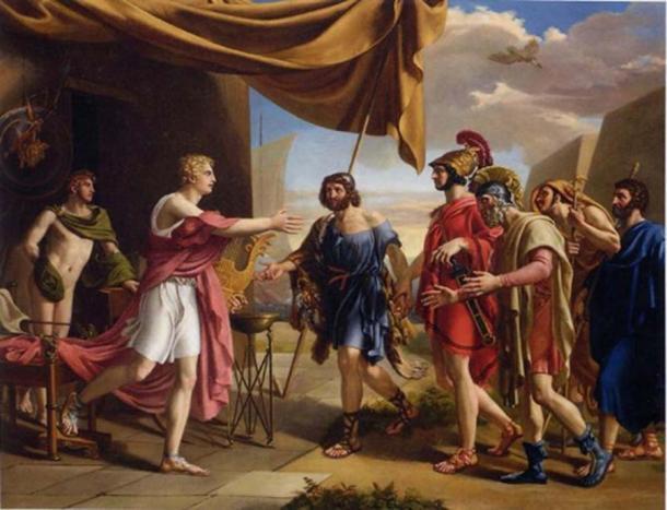 Agamenón intenta apaciguar a Aquiles para que regrese. (VladoubidoOo / Dominio público)