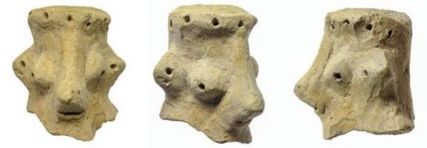 Este artefacto inusual descubierto durante las excavaciones en Khirbet Qeiyafa ha sido la causa de la controversia. (Clara Amit / Autoridad de Antigüedades de Israel)