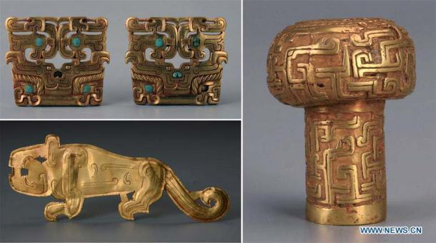 Estos son solo algunos de los valiosos artefactos excavados en el sitio de Liujiawa en 2018 (Xinhuanet)