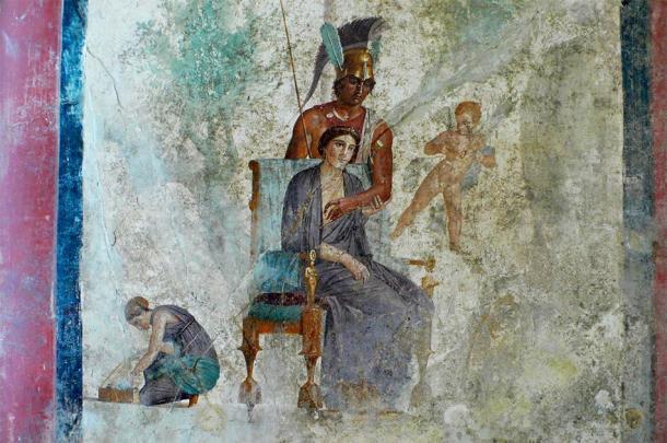 Esta obra de arte de Pompeya sugiere la presencia del bien y del mal. (sovach / Adobe Stock)