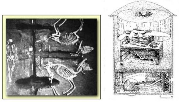 Los arios sacrificaron sus caballos y fueron enterrados juntos. (sabiduría antigua)