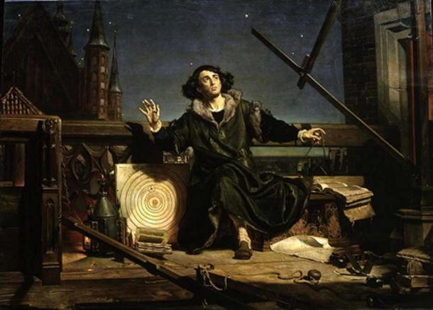 """""""Astrónomo Copérnico, conversación con Dios"""" (1872) de Jan Matejko. (Dominio publico)"""