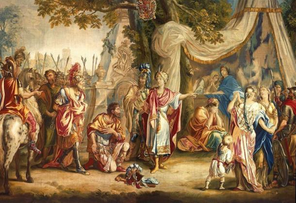 El rey Astyages en cadenas sometiendo a Ciro el Grande. (पाटलिपुत्र / Dominio público)