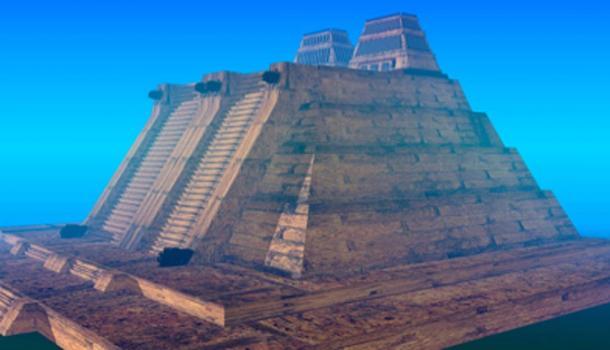 Templo mayor azteca en tenochtitlan. (Josué González / Dominio Público)
