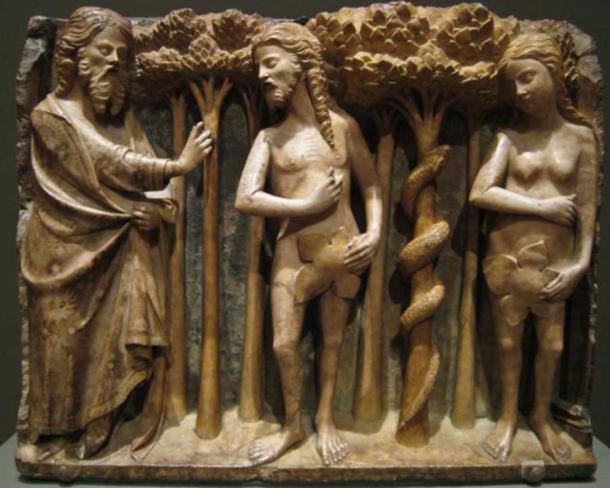 Bartolomeu Rubio, El Señor reprendiendo a Adán y Eva, ca. 1362 (Sharon Mollerus / flickr)