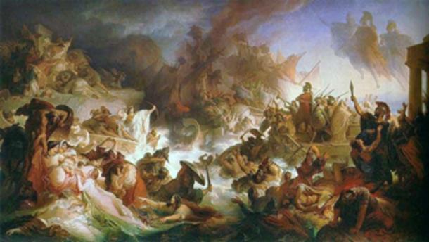 Batalla de Salamina. (Alonso de Mendoza / Dominio público)