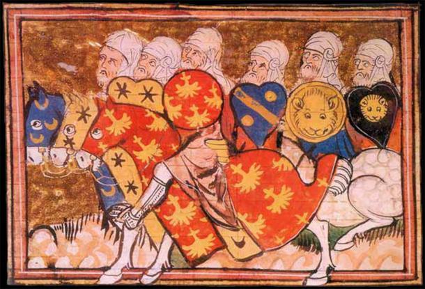 El arqueólogo examinó fuentes primarias y descubrió que Ricardo Corazón de León y su ejército se abrieron paso por la costa desde Arce. En la imagen se pueden ver los ejércitos de Saladino durante el Asedio de Arce. (Dominio público)