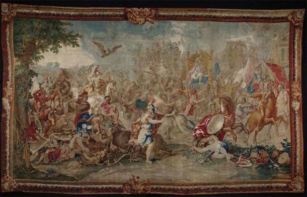 Batalla de Arbela, también conocida como la Batalla de Gaugamela (1660-1672) por Charles Le Brun. (Dominio publico)