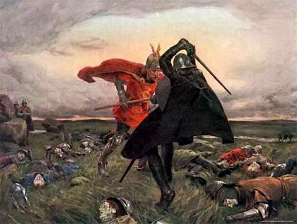 La batalla entre el Rey Arturo y Sir Mordred se menciona en la leyenda artúrica. (Shakko / Dominio público)