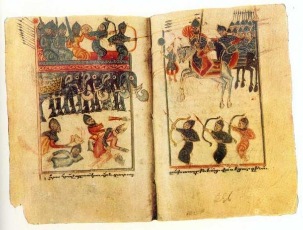 Aunque los Mamikonianos perdieron la Batalla de Avarayr, también les permitió continuar practicando el cristianismo como su fe a pesar del descontento de los Sasánidas. (Karapet Berkretsi / Dominio público)