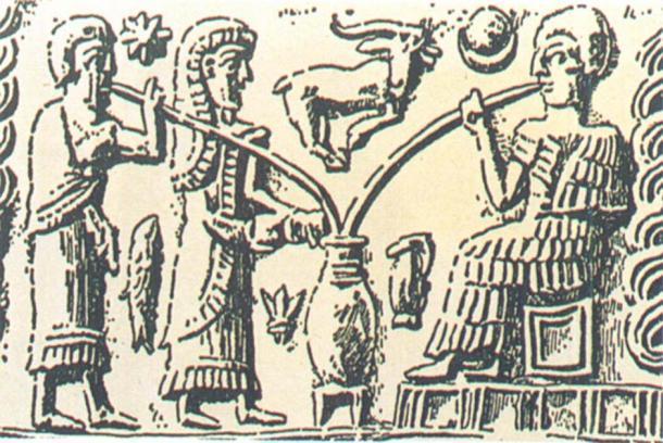 La representación más antigua de beber cerveza muestra a personas bebiendo de un recipiente comunal a través de pajitas de caña. (Brauerstern)