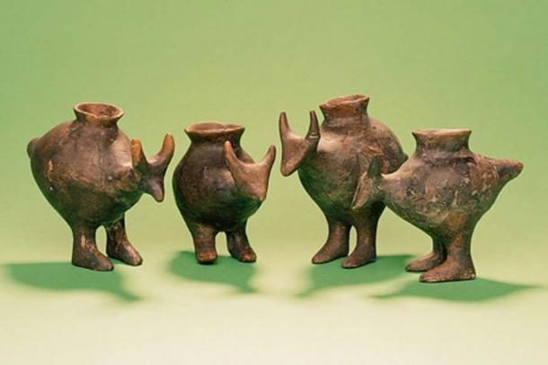 Biberones de la Edad del Bronce tardío de Vösendorf, Austria (Enver-Hirsch / Wien Museum)