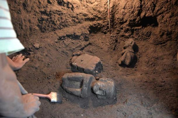 Cuando atacaron Zultépec-Tecoaque, los españoles también quemaron templos y decapitaron deidades. (Melitón Tapia / INAH)